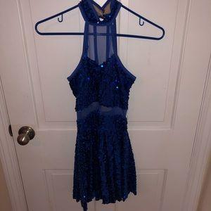 Weissman Blue Sparkly Dress Dance Costume